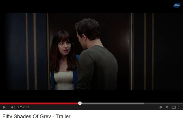 "It's here… The official first trailer for ""50 Shades of Grey"""